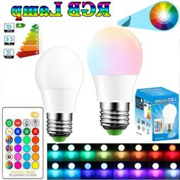 E27 10W LED RGB 16 Color Changing Lamp Light Bulb With IR Re