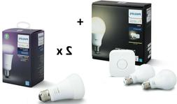 Philips Hue Starter Kit with 4 A19 Bulbs  - New