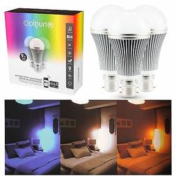 Nuglo LED Multi Colour Changing Bulbs 3 Pack App Controlled