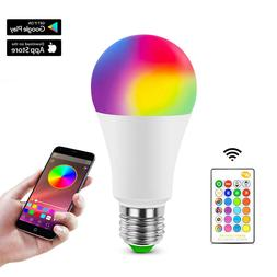 RGB E27 LED Lamp Bulb Lights Color Changing Dimmable Bluetoo