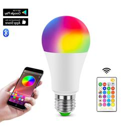 RGB RGBW E27 LED Bulb Light Color Changing Dimmable Bluetoot