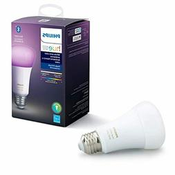 Philips Hue White and Color Ambiance A19 LED Smart Bulb, Blu