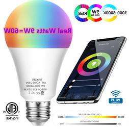 Wifi Smart LED light Bulb 9W A19 850LM RGBW Dimmable for Ale